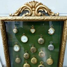 Relojes de bolsillo: CUADRO EXPOSITOR RELOJES DE BOLSILLO VITRINA EXPOSITORA COLECCION. Lote 195461631