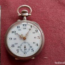 Relojes de bolsillo: RELOJ DE BOLSILLO DE PLATA EN FUNCIONAMIENTO. Lote 195478948