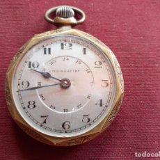 Relojes de bolsillo: RELOJ PLACADO DE ORO. EN FUNCIONAMIENTO. Lote 195479410