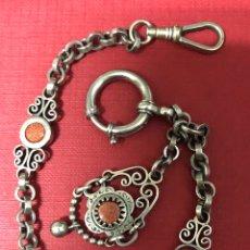 Relojes de bolsillo: SOBERBIA LEONTINA DE FINALES DE S.XIX. PIEZA DE COLECCIÓN. Lote 195516220