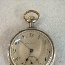 Relojes de bolsillo: RELOJ DE BOLSILLO ZEDA WATCH, PLATA 15 RUBIS. Lote 195546085