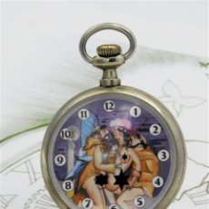 Relojes de bolsillo: RELOJ DE BOLSILLO ERÓTICO-CYRUS GT-SUIZA-CIRCA 1900-1920-FUNCIONANDO. Lote 195548831