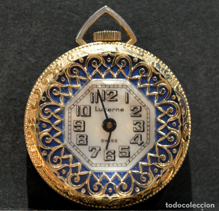 RELOJ SUIZO DE BOLSILLO O COLGANTE CARGA MANUAL MARCA LUCERNE SWISS MADE (Relojes - Bolsillo Carga Manual)