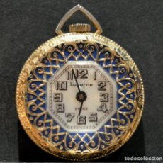 Relojes de bolsillo: RELOJ SUIZO DE BOLSILLO O COLGANTE CARGA MANUAL MARCA LUCERNE SWISS MADE. Lote 195658645