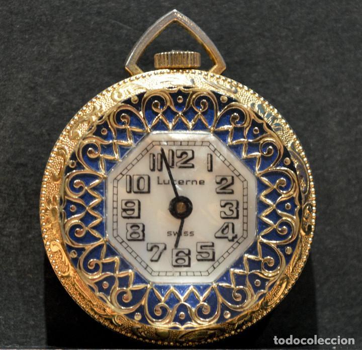 Relojes de bolsillo: RELOJ SUIZO DE BOLSILLO O COLGANTE CARGA MANUAL MARCA LUCERNE SWISS MADE - Foto 2 - 195658645