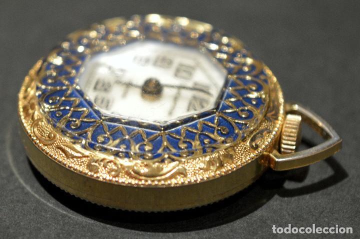 Relojes de bolsillo: RELOJ SUIZO DE BOLSILLO O COLGANTE CARGA MANUAL MARCA LUCERNE SWISS MADE - Foto 9 - 195658645