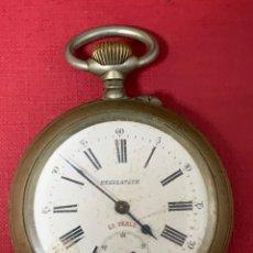 Relojes de bolsillo: ANTIGUO RELOJ DE BOLSILLO TAMAÑO GIGANT, REGULATEUR LA PERLE. Lote 195672001