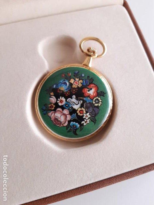Relojes de bolsillo: Reloj Bolsillo Suizo - Marca Olten - Bañado en oro - Foto 2 - 195744823