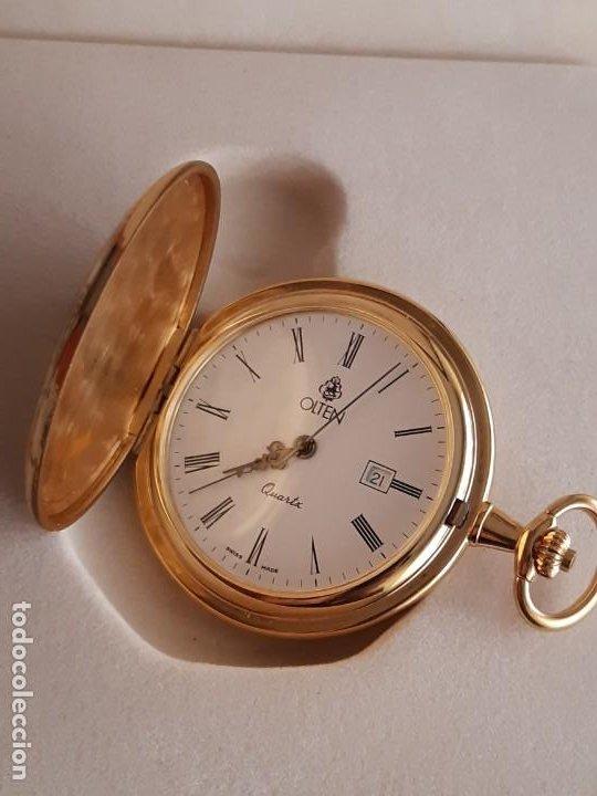 Relojes de bolsillo: Reloj Bolsillo Suizo - Marca Olten - Bañado en oro - Foto 4 - 195744823