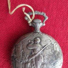 Orologi da taschino: RELOJ DE BOLSILLO SUPERWATCH PLATEADO CON BONITA ESCENA DE CAZA, DE CUERDA MANUAL. Lote 195815031
