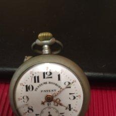 Relojes de bolsillo: ANTIGUO RELOJ 2 TAPAS SUSTENTE ROSKOPF PATENT. Lote 195875566