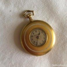 Relojes de bolsillo: RELOJ SABONETA MUJER ORO 18 K MOVADO SURETE. Lote 196327186