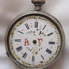 Relojes de bolsillo: RELOJ DE BOLSILLO ANTIGUO DE LLAVE PLATA. Lote 196356701