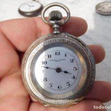 Relojes de bolsillo: RELOJ DE BOLSILLO MAURER & CIE EISENBACH MODESTO CASTRO FRIOL PLATA. Lote 197038523