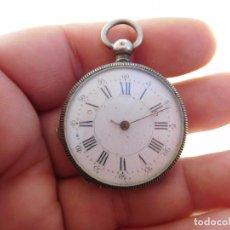 Relojes de bolsillo: RELOJ DE BOLSILLO PEQUEÑO DE PLATA AÑO 1900 APROX.. Lote 197181175