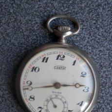 Relojes de bolsillo: RELOJ DE BOLSILLO MARCA SANTPI - ANTIGUO - 42 MILÍMETROS - MUY BIEN CONSERVADO. . Lote 197221401
