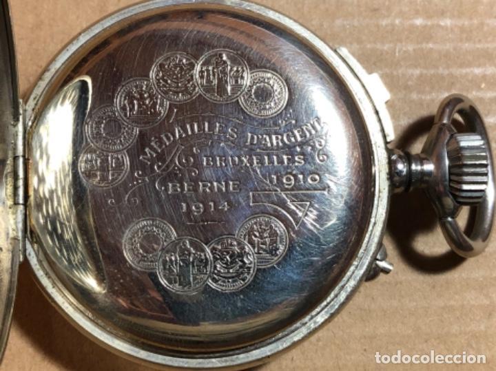 Relojes de bolsillo: Rosskopf Fils Cronógrafo. Roskopf Segundero central. Funciona. - Foto 2 - 197521553