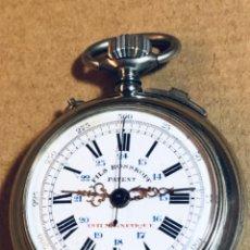 Relojes de bolsillo: ROSSKOPF FILS CRONÓGRAFO. ROSKOPF SEGUNDERO CENTRAL. FUNCIONA.. Lote 197521553