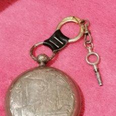 Relojes de bolsillo: RELOJ DE BOLSILLO SABONETA DE PLATA SIGLO XIX. Lote 197713327