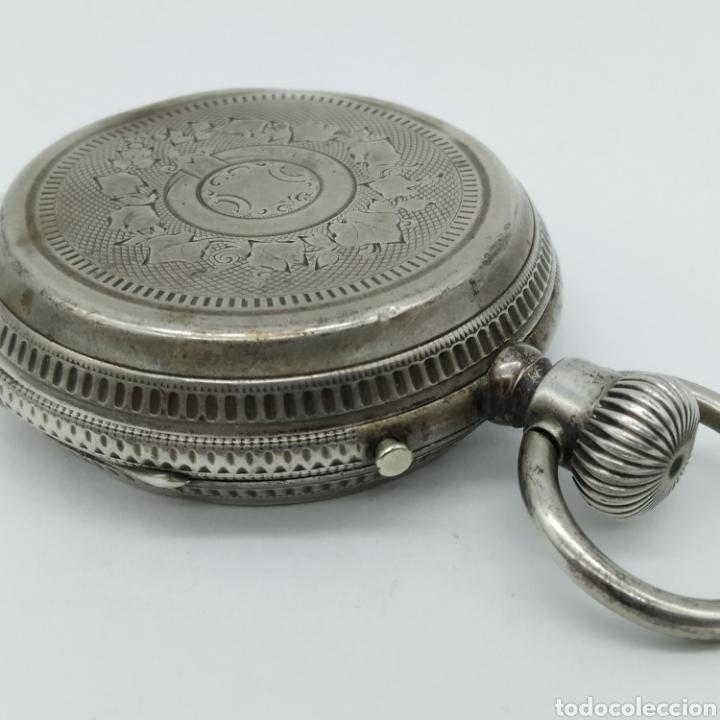 Relojes de bolsillo: PAUL JEANNOT - Reloj de 4 tapas - 1894. 15 rubíes. Ginebra Suiza - Para reparar - Foto 8 - 199037875