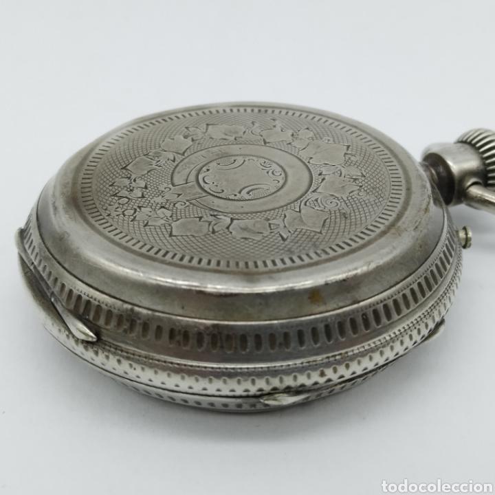 Relojes de bolsillo: PAUL JEANNOT - Reloj de 4 tapas - 1894. 15 rubíes. Ginebra Suiza - Para reparar - Foto 9 - 199037875