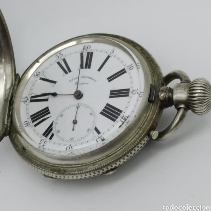 Relojes de bolsillo: PAUL JEANNOT - Reloj de 4 tapas - 1894. 15 rubíes. Ginebra Suiza - Para reparar - Foto 24 - 199037875