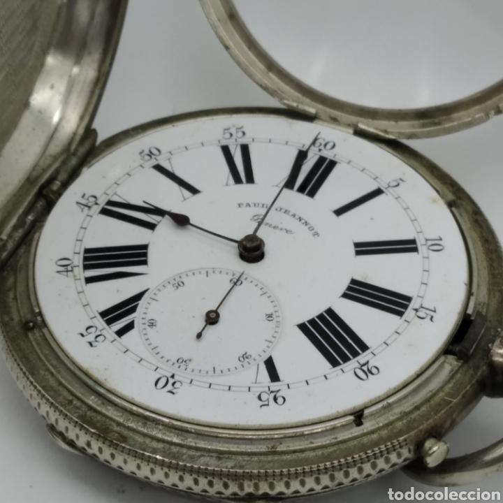 Relojes de bolsillo: PAUL JEANNOT - Reloj de 4 tapas - 1894. 15 rubíes. Ginebra Suiza - Para reparar - Foto 5 - 199037875