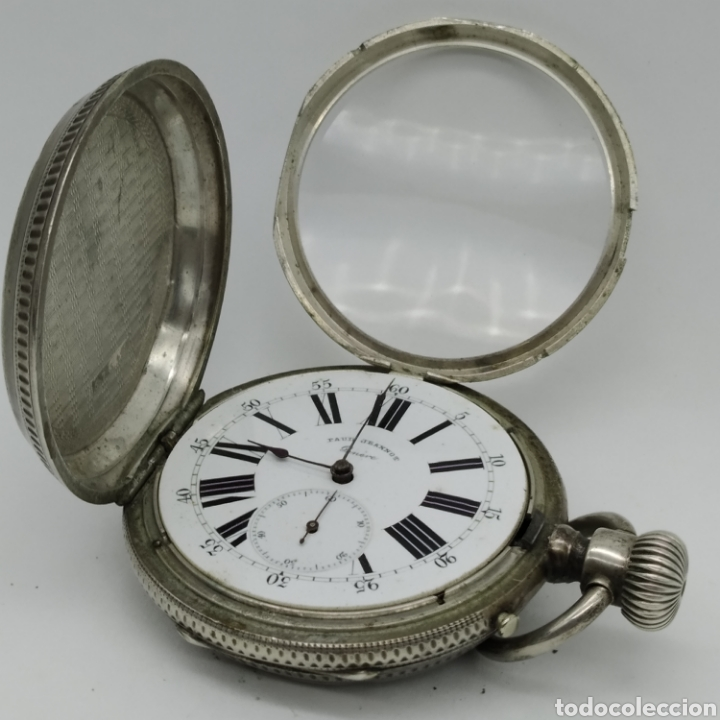 Relojes de bolsillo: PAUL JEANNOT - Reloj de 4 tapas - 1894. 15 rubíes. Ginebra Suiza - Para reparar - Foto 4 - 199037875