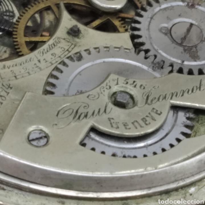 Relojes de bolsillo: PAUL JEANNOT - Reloj de 4 tapas - 1894. 15 rubíes. Ginebra Suiza - Para reparar - Foto 21 - 199037875