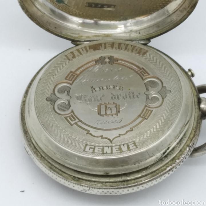 Relojes de bolsillo: PAUL JEANNOT - Reloj de 4 tapas - 1894. 15 rubíes. Ginebra Suiza - Para reparar - Foto 2 - 199037875