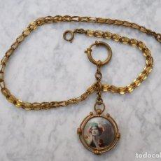 Relojes de bolsillo: CADENA DE RELOJ DE BOLSILLO EN METAL CHAPADO DE ORO ÉPOCA PRINCIPIOS DEL SIGLO XX 1900 - 1920 . Lote 199068892