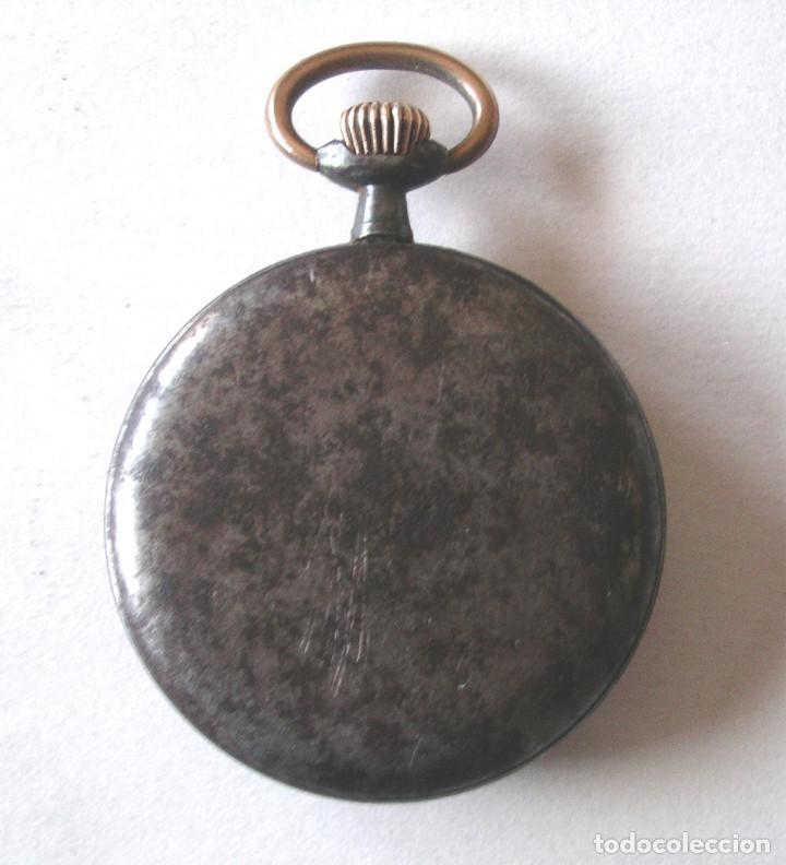 Relojes de bolsillo: Audax Reloj bolsillo, extraplano, hierro pavonado, todo de origen. Med. 4,5 x 1 cm - Foto 2 - 199178986