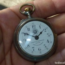 Relojes de bolsillo: RELOJ ROSKOPF CUERVO Y SOBRINOS HABANA CUBA BOLSILLO FUNCIONANDO ESTRELLA LOBULADA BUEN ESTADO. Lote 199185237