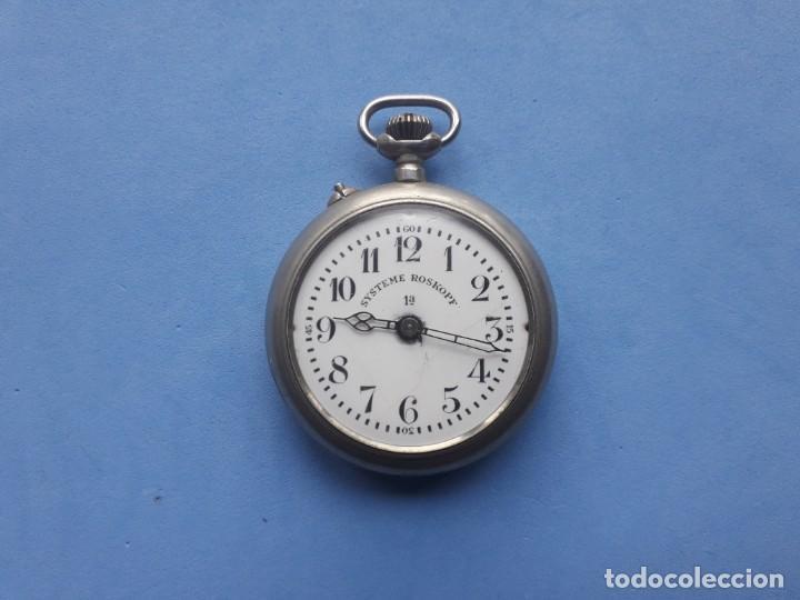 RELOJ DE BOLSILLO MARCA ROSKOPF. FUNCIONANDO (Relojes - Bolsillo Carga Manual)