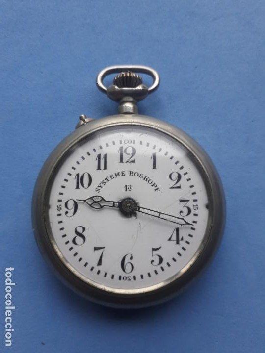 Relojes de bolsillo: Reloj de bolsillo Marca Roskopf. Funcionando - Foto 2 - 199229246
