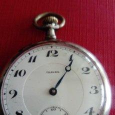 Relojes de bolsillo: RELOJ DE BOLSILLO CAJA DE PLATA TRAVAIL. Lote 199486130