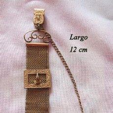 Relojes de bolsillo: LEONTINA CADENA ANTIGUA PARA RELOJ DE BOLSILLO GOLD FILLED HEBILLA. Lote 199490733