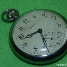 Relojes de bolsillo: BELLO RELOJ LEONIDAS PRE HEUER CALIBRE UNITAS 233 SWISS MADE AÑOS 40. Lote 199980891