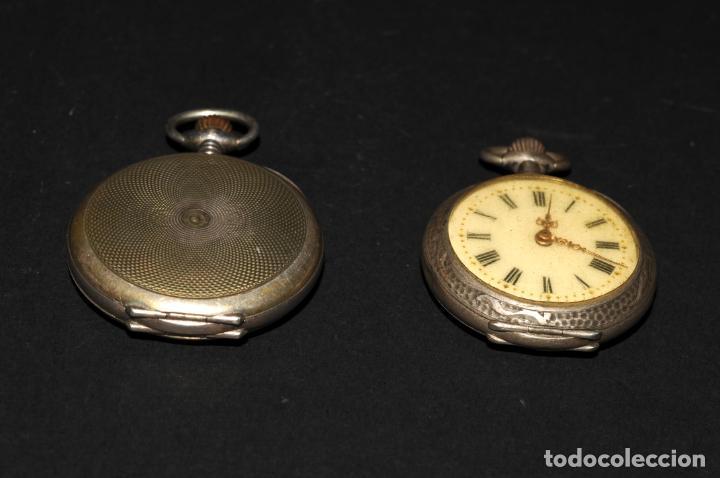 Relojes de bolsillo: PAREJA DE RELOJES DE BOLSILLO DE PLATA - UNO DE ELLOS TITANIA - Foto 2 - 200035917