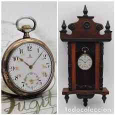 Montres de poche: OMEGA-DE PLATA-3 TAPAS-CON EXPOSITOR-RELOJ DE BOLSILLO-CIRCA 1921-FUNCIONANDO. Lote 200799095