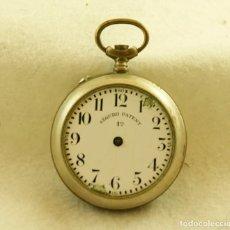 Relojes de bolsillo: BOLSILLO CAJA + ESFERA SEGURO PATENT TIPO ROSKOPF 46MM. Lote 200806821