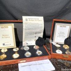 Relojes de bolsillo: 2 COLECCIONES DE RELOJ DE BOLSILLO ALTA GAMA EN MAQUINARIA SUIZA REMONTOIR BAÑADOS EN ORO Y PLATA. Lote 201151136