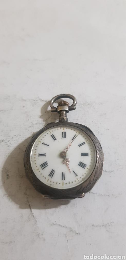 Relojes de bolsillo: Reloj de bolsillo en plata y oro funcionando - Foto 2 - 201161870