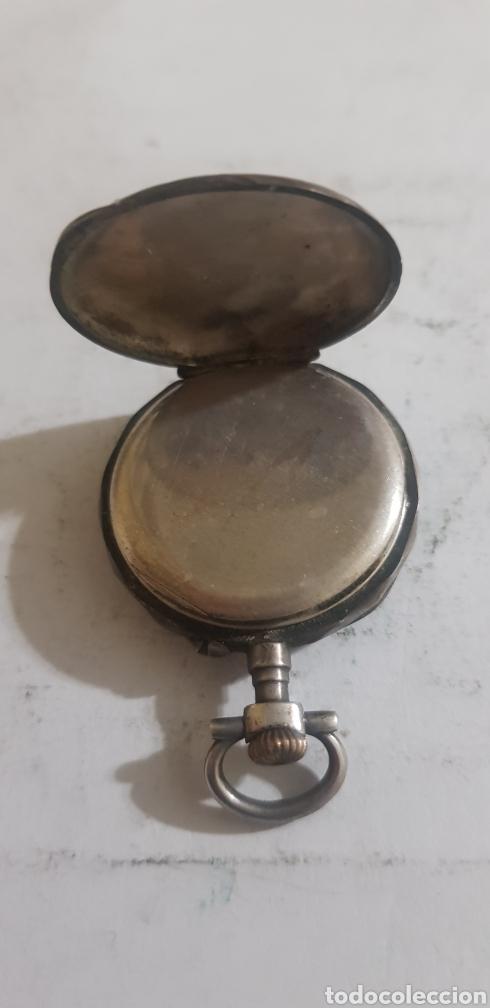 Relojes de bolsillo: Reloj de bolsillo en plata y oro funcionando - Foto 4 - 201161870