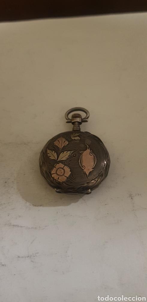 RELOJ DE BOLSILLO EN PLATA Y ORO FUNCIONANDO (Relojes - Bolsillo Carga Manual)