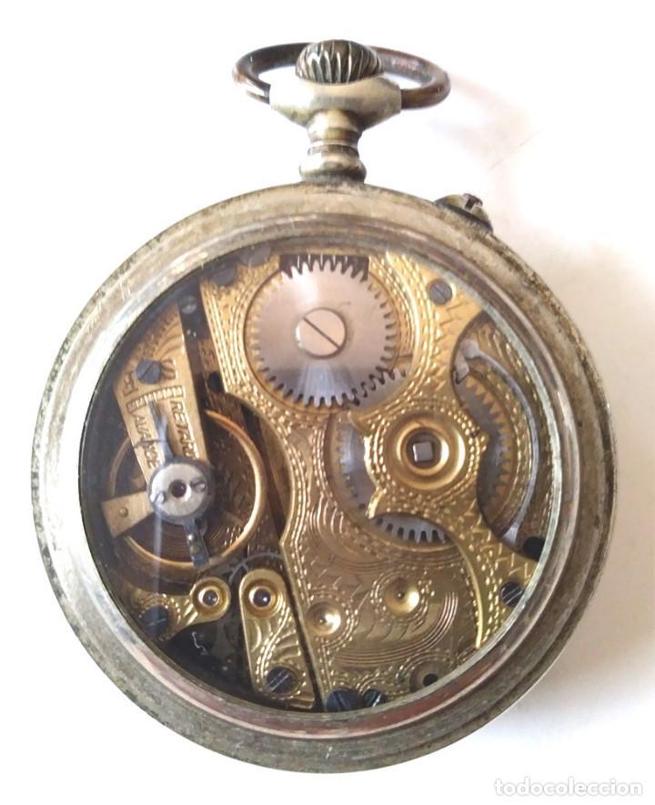 Relojes de bolsillo: Rotschild reloj Bolsillo funciona, maquinaria cinzelada lente protectora Cristal - Foto 2 - 201292200