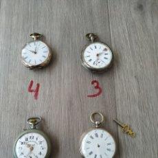Relojes de bolsillo: LOTE DE 4 RELOJES ANTIGUOS. Lote 201323641
