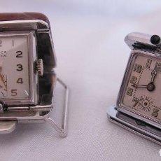Relojes de bolsillo: DOS RELOJES ANTIGUOS PARA CINTURON DE GOLF Y FLIP TOP. Lote 202111501