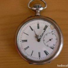 Relojes de bolsillo: RELOJ DE BOLSILLO SUIZO DE PLATA. Lote 202494620