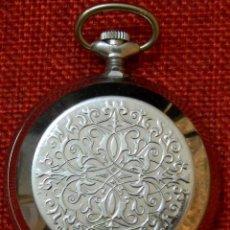 Relojes de bolsillo: RELOJ DE BOLSILLO CAJA TIPO SABONETA - MARCA AVYSTYE - 18 RUBIS - MADE IN URSS - RUSIA - 50 MM. Lote 202573595